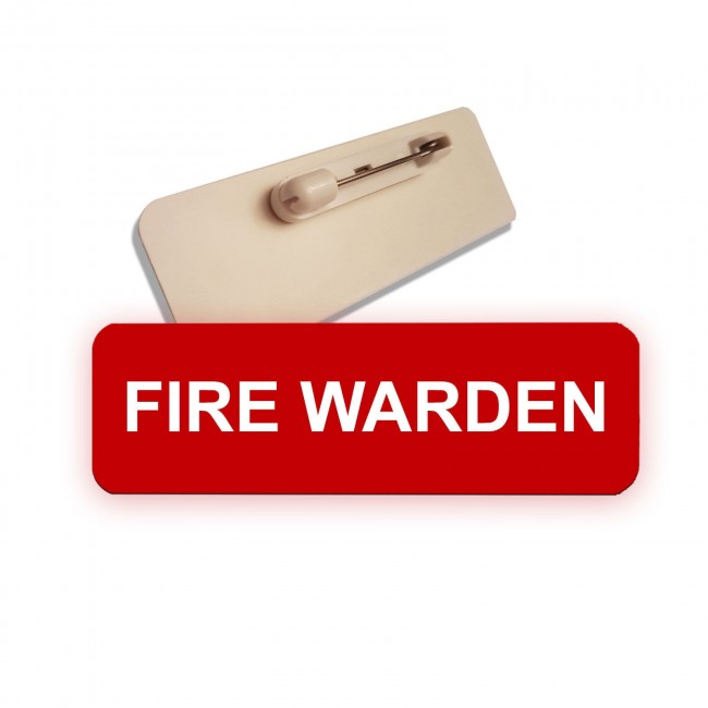 Engraved Fire Warden Badge