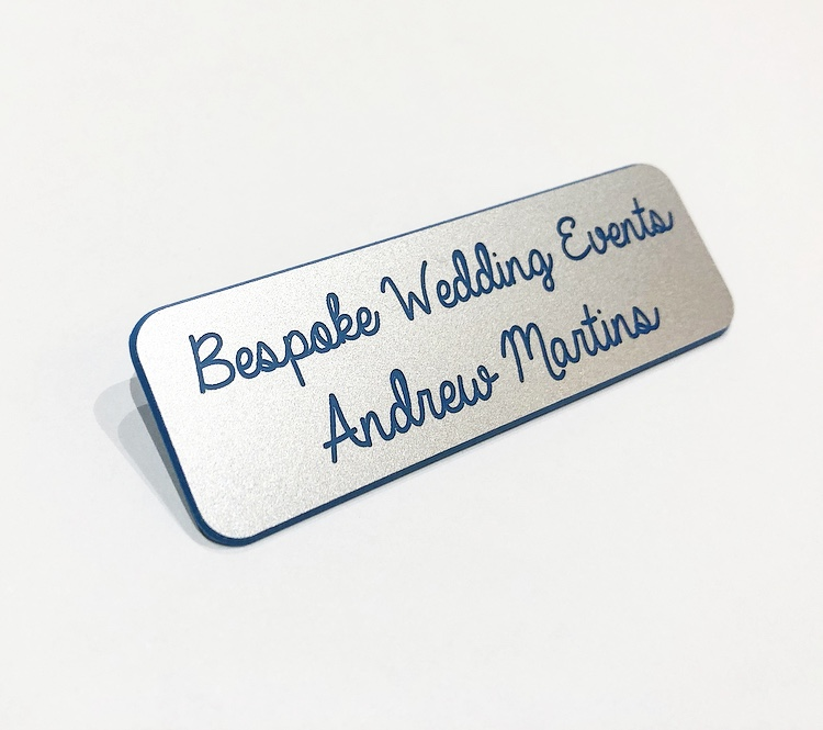Engraved Rectangle Identification Name Badges